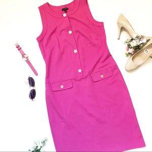 NWOT Talbots Sheath Dress Pink Size 6 sleeveless
